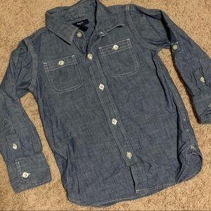 Gap Kids Button Down Chambray Shirt Size XS